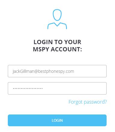 login mspy account
